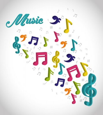 Affisch Musik digital design.