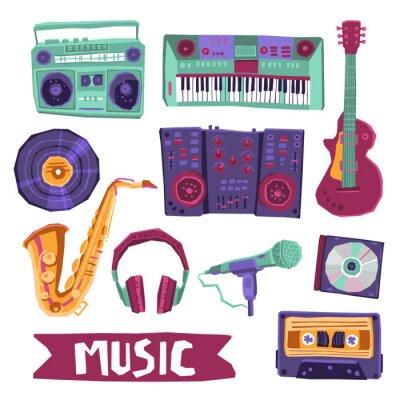 Affisch Musik ikoner