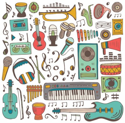Affisch Musik klotter samling