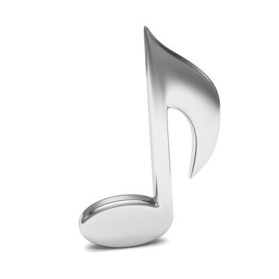 Affisch musik noterar 3D, på vit