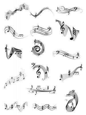 Affisch Musik swirl uppsättning
