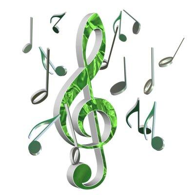 Affisch Musik, Violinschlüssel, Musik