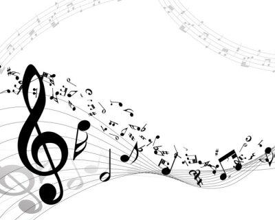 Affisch musikalisk bakgrund