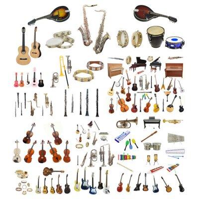 Affisch musikinstrument