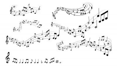 Affisch musiknoter