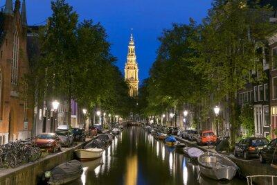 Affisch Natt bild av Zuiderkerk i Amsterdam