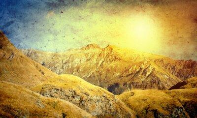 Affisch naturliga landskapet