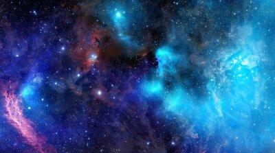 Affisch nebulosa gasmoln i djupa rymden