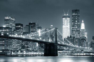 Affisch New York Brooklyn Bridge