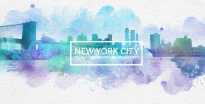 Affisch New York City är där drömmar görs vykort