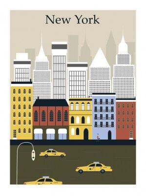 Affisch New York City. Vektor