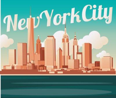Affisch New York skyline