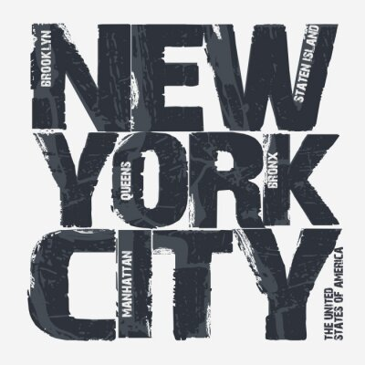 Affisch New York typografidesign