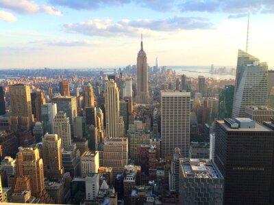 Affisch New York vista al tramonto da toppen av berget