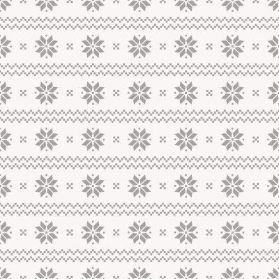 Affisch Norska Seamless. Vector set.