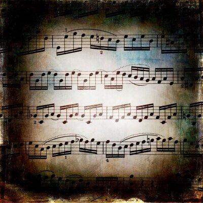 Affisch Od musikaliska konsistens grunge