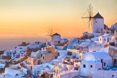 Affisch Oia solnedgång, Santorini ö, Grekland