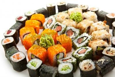 Affisch Olika typer av Maki Sushi