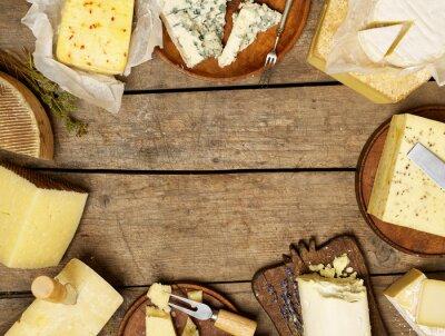 Affisch Olika typer av ost