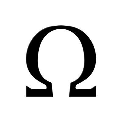 Affisch Omega symbol