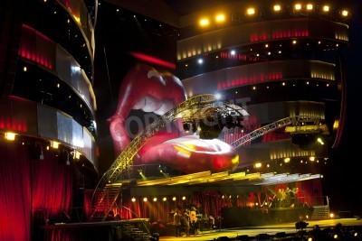 Affisch OSLO - 8 augusti: Rolling Stones har en konsert på Valle Hovin i Oslo 8 aug 2007 i Oslo, Norge