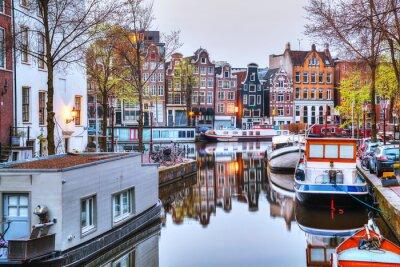 Affisch Översikt över Amsterdam