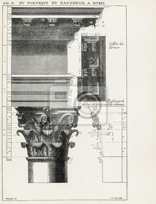 Affisch Pantheon i Rom VIII