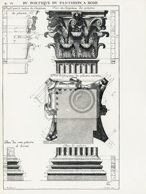 Affisch Pantheon i Rom X