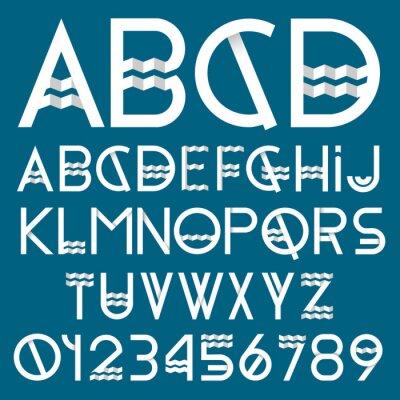 Affisch Papper teckensnitt och siffror