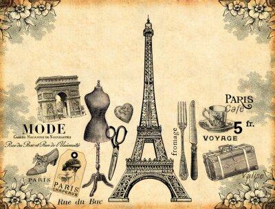 Affisch Paris bakgrund