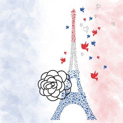 Affisch Paris Eiffeltornet