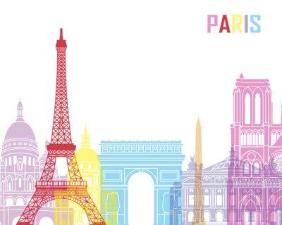 Affisch Paris skyline pop