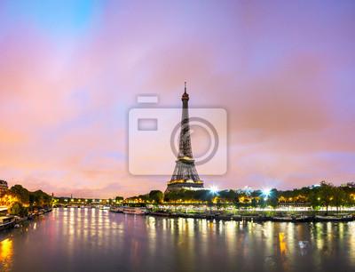Affisch Paris stadsbild med Eiffeltornet