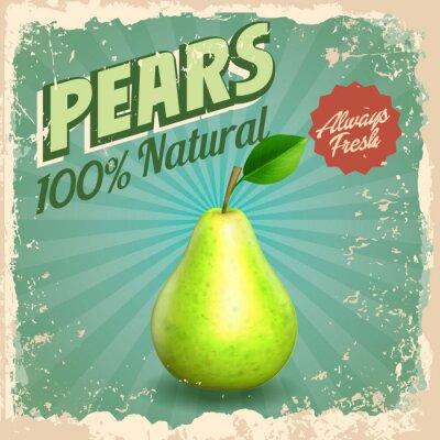 Affisch päron tappning