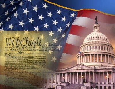 Affisch Patriotiska symboler - Förenta Staterna
