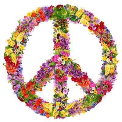 Affisch Peace blomma symbol