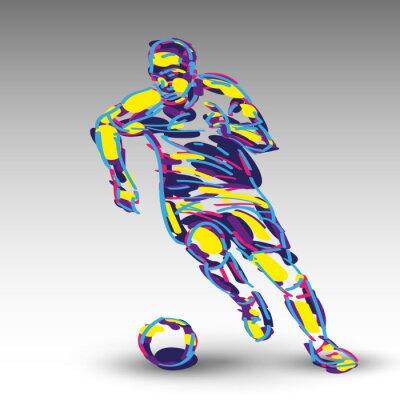 Affisch Piłka nożna wektor