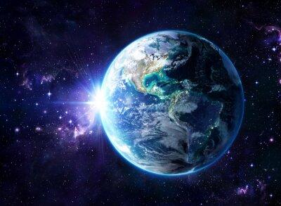 Affisch planet i kosmos - USA view - USA