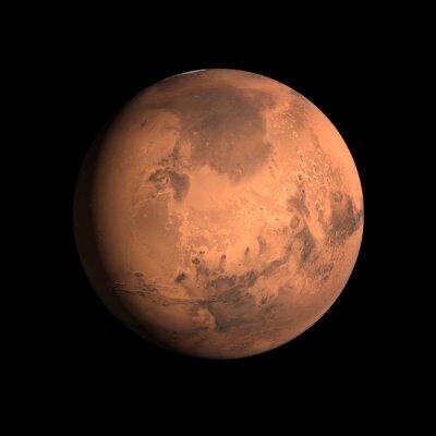 Affisch planet Mars