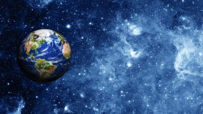 Affisch planeten jorden i rymden