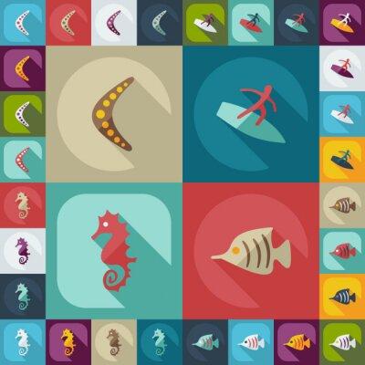 Affisch Platt koncept ställer modern design med skugga avstralia
