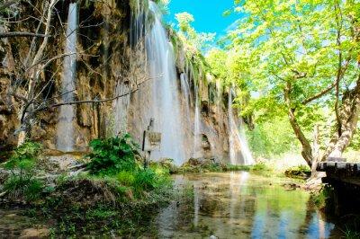Affisch Plitvicesjöarnas nationalpark i Kroatien