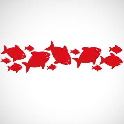 Affisch poisson rouge