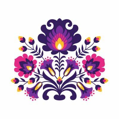 Affisch Polish Folk Blommor