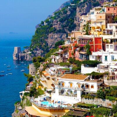 Affisch Positano, Italien. Amalfikusten
