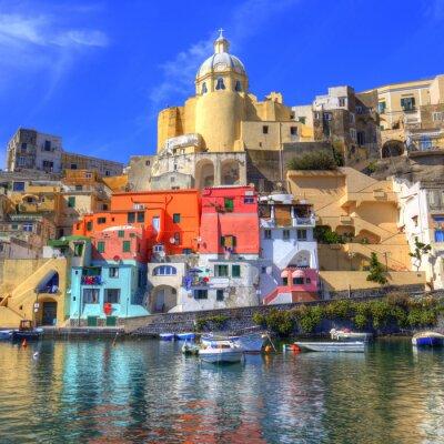 Affisch Procida Island i Medelhavet, Neapel