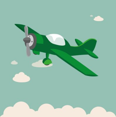 Affisch Propellerplan Stock