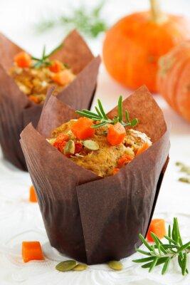 Affisch Pumpa muffins med rosmarin och frön.