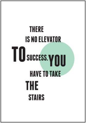 Affisch Quote typografi för inspirera
