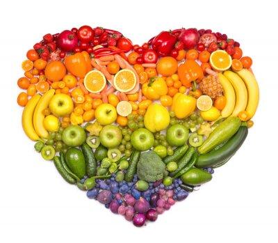 Affisch Rainbow hjärtat av frukt och grönsaker